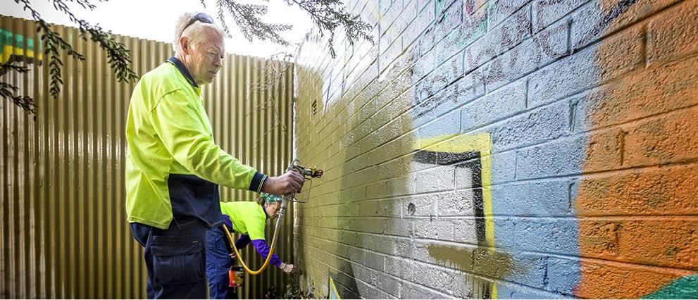 Graffiti removal - volunteers