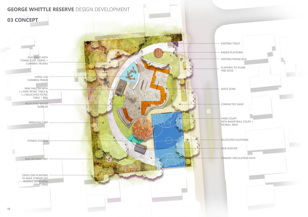 George Whittle Reserve Concept Plan - 2019