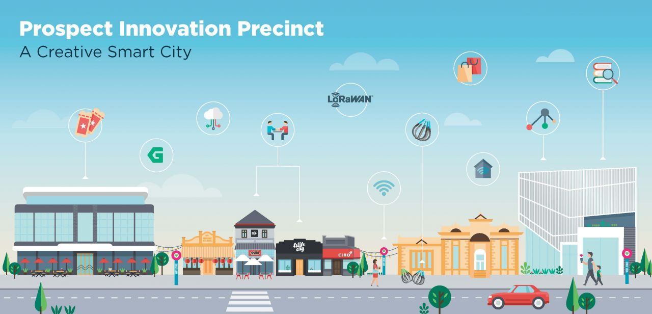 Infographic illustration of the Prospect Road Innovation Precinct