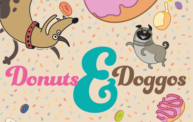 Donuts and doggos image
