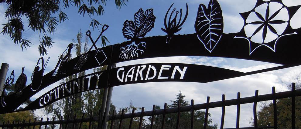 Community Garden gates