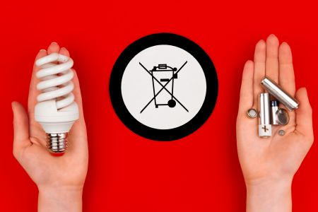 Recycling batteries and light bulbs