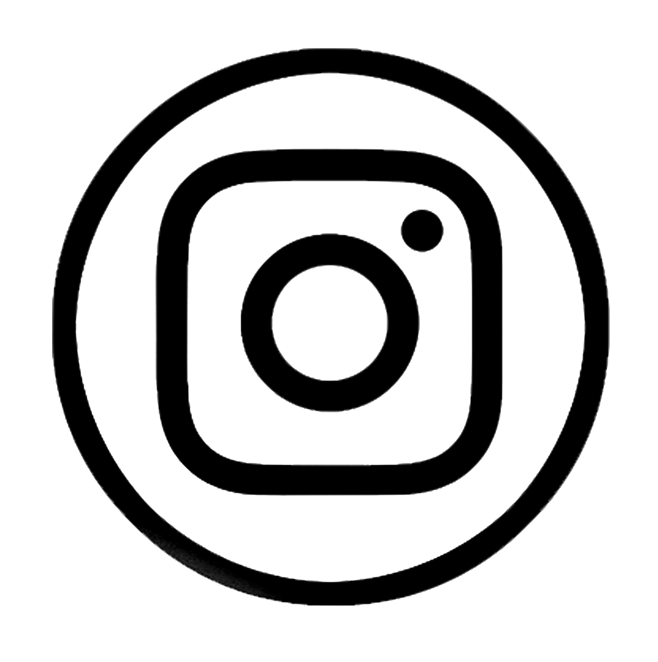 Instagram logo - black